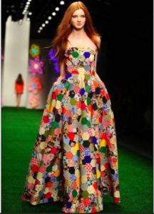 What a wonderfully colourful dress!